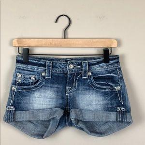Miss Me JP5772H Cuffed Jean Shorts (Size 24)